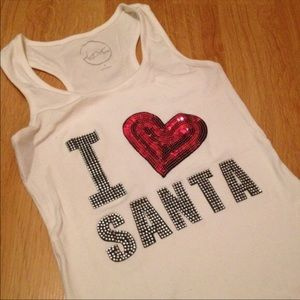 "INC | ""I Love Santa"" tank top NWOT"